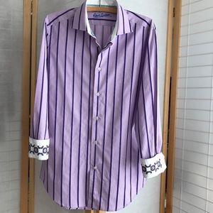Size Medium Robert Graham shirt contrasting cuffs
